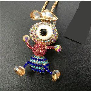 Jewelry - Rhinestone Cartoon Ant Necklace/ Brooch